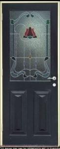 La porte vitrée décorative